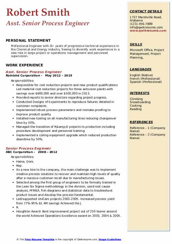 senior process engineer resume samples qwikresume sample pdf sourcing examples should pay Resume Senior Process Engineer Resume Sample
