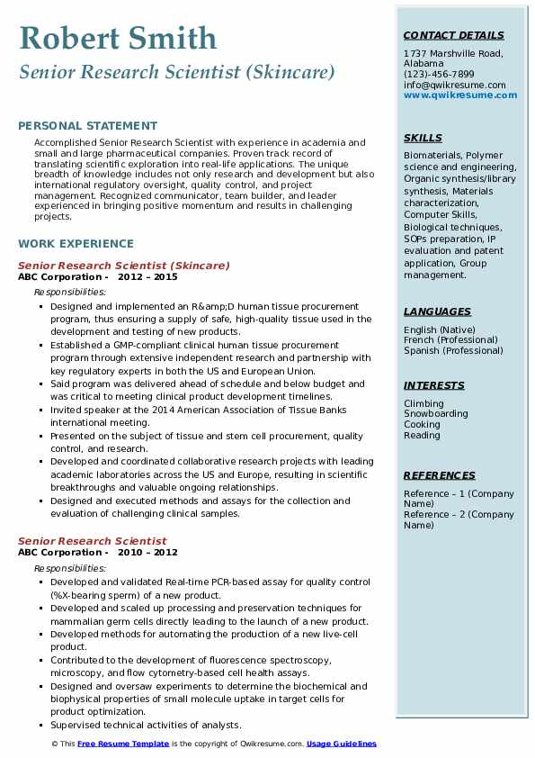 senior research scientist resume samples qwikresume science pdf assistant coach bus Resume Science Research Resume