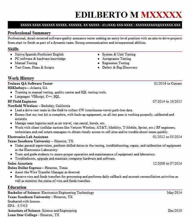 senior software qa tester resume example sapient corporation san francisco banking Resume Banking Projects For Testing Resume