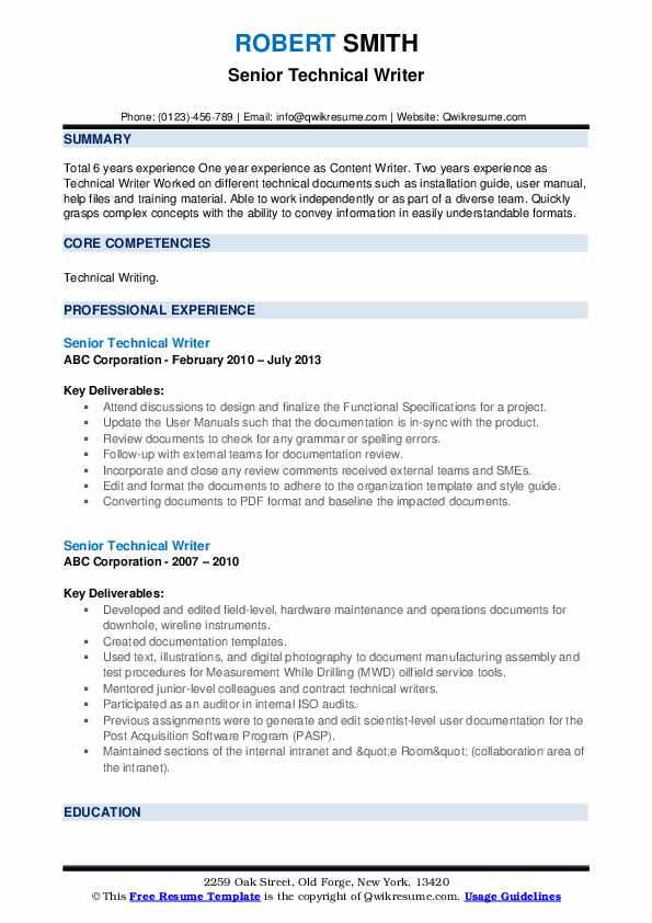 senior technical writer resume samples qwikresume template pdf content management system Resume Technical Writer Resume Template