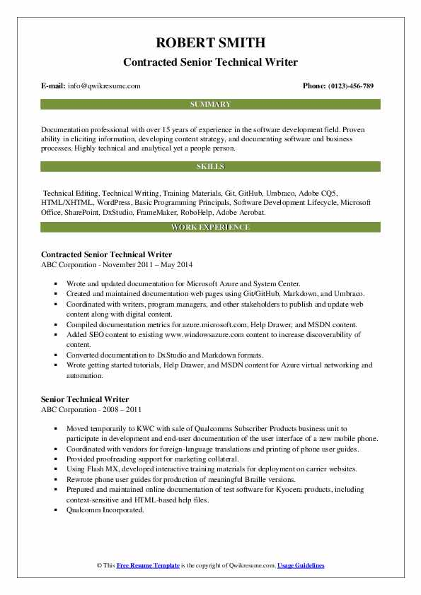 senior technical writer resume samples qwikresume template pdf thoughts can you make on Resume Technical Writer Resume Template