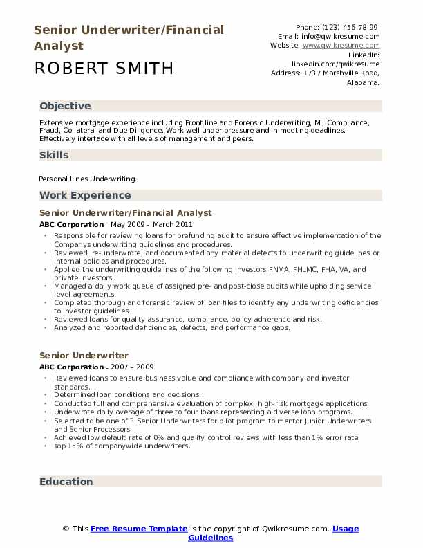 senior underwriter resume samples qwikresume pdf request from candidate call center Resume Senior Underwriter Resume