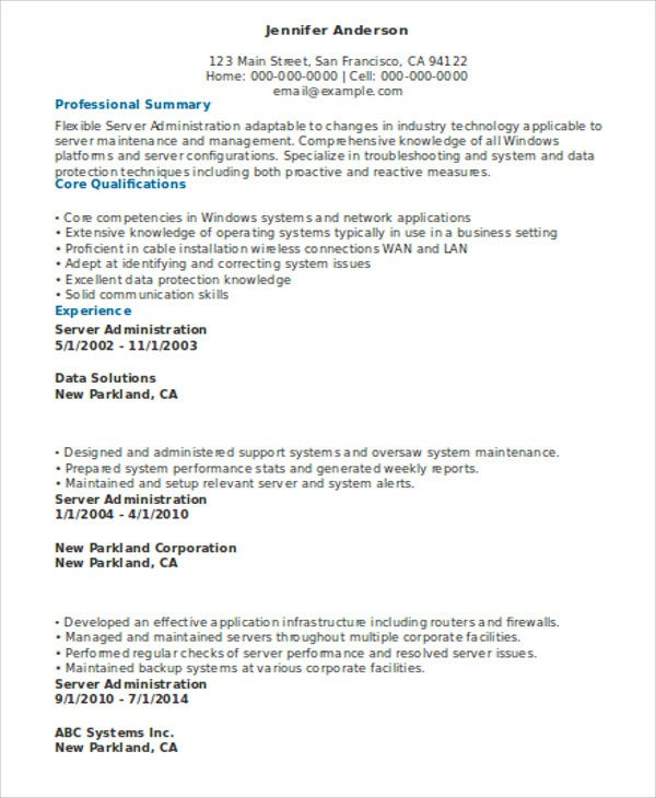 server resume templates pdf free premium job description for on administrator le chagrin Resume Job Description For A Server On A Resume