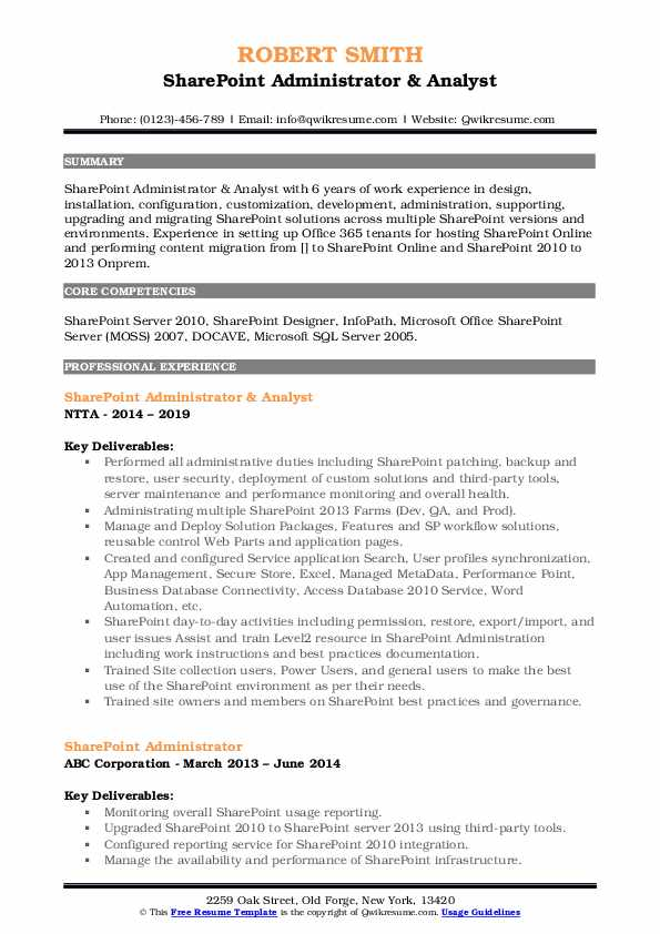 sharepoint administrator resume samples qwikresume pdf for little work experience big Resume Sharepoint Administrator Resume