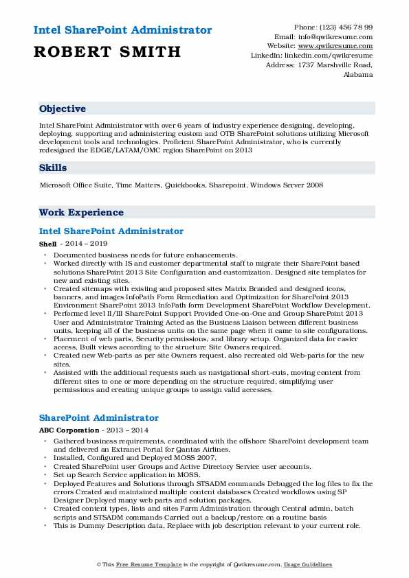 sharepoint administrator resume samples qwikresume pdf that sells occupational therapy Resume Sharepoint Administrator Resume