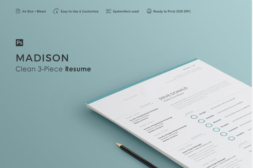 simple resume cv templates easily customizable editable for template elements example Resume Customizable Resume Template