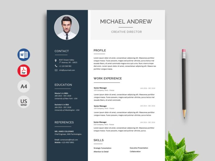 simple resume format for experienced free templates word data science sample freshers Resume Workamper Resume Template