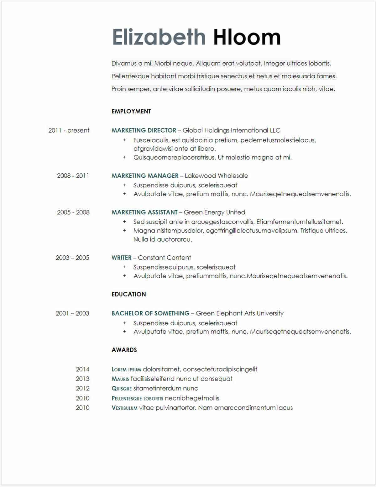 simple resume google docs examples blue side gdoc template free data science sample for Resume Google Docs Resume Examples