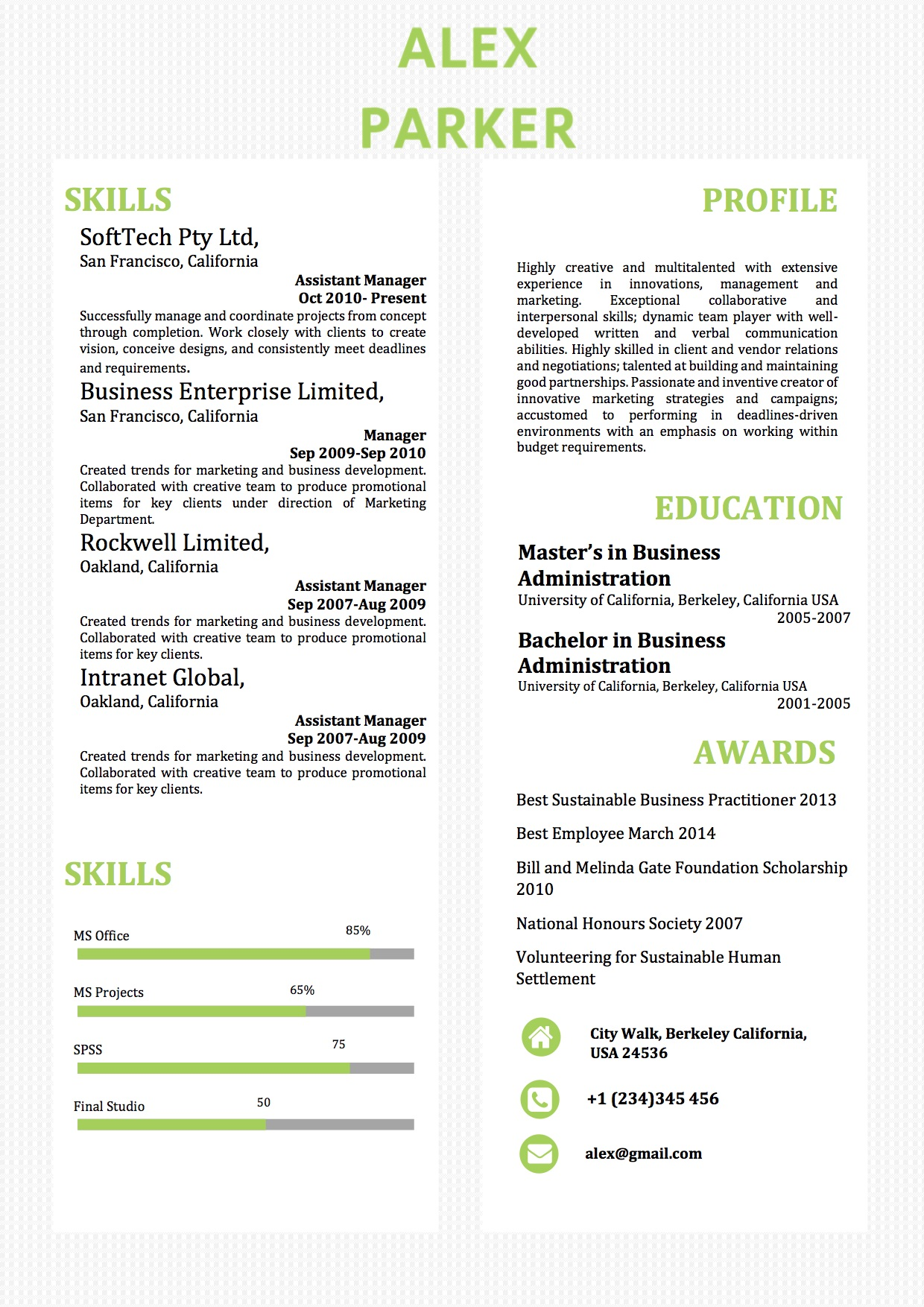 simple two columns word resume template vista column resume40 humber objective for server Resume Word Resume Template Two Column
