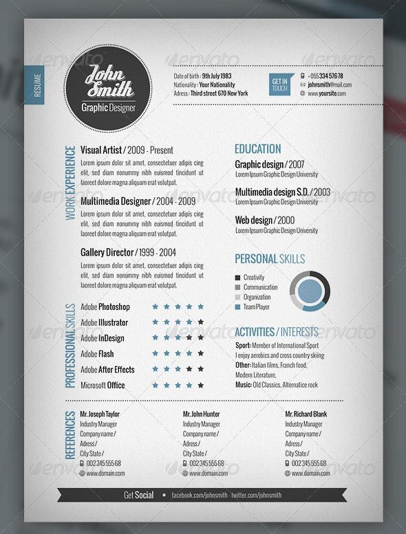 site of eye catching templates creative cv template graphic design resume sample personal Resume Eye Catching Resume Templates