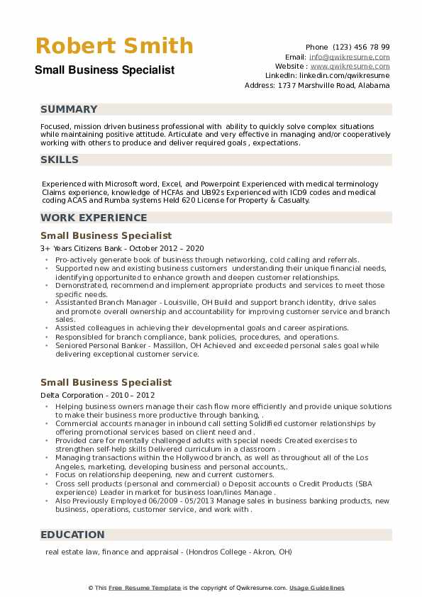 small business specialist resume samples qwikresume pdf market research analyst career Resume Business Specialist Resume