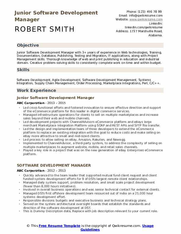 software development manager resume samples qwikresume projects for pdf career objective Resume Software Projects For Resume