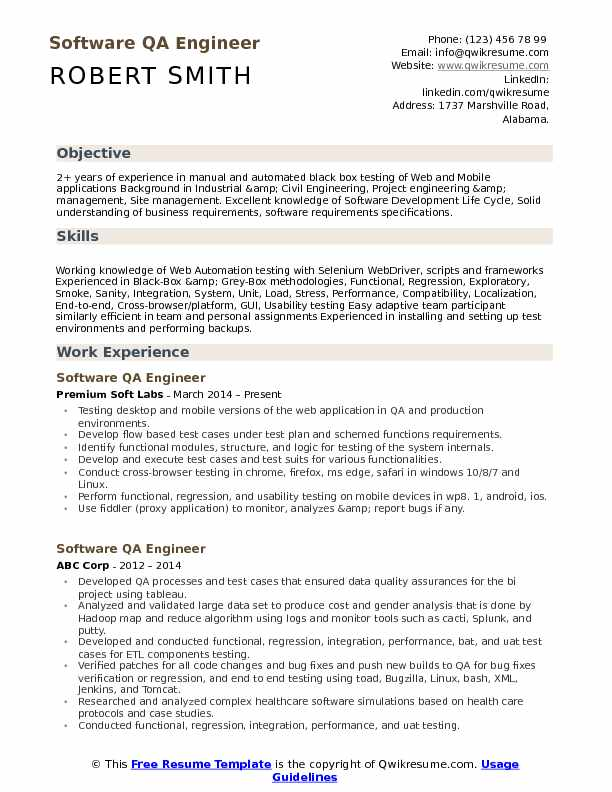 software qa engineer resume samples qwikresume sample for experienced test pdf government Resume Sample Resume For Experienced Test Engineer