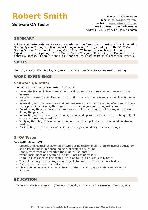 software qa tester resume samples qwikresume sample for experienced manual test engineer Resume Sample Resume For Experienced Test Engineer