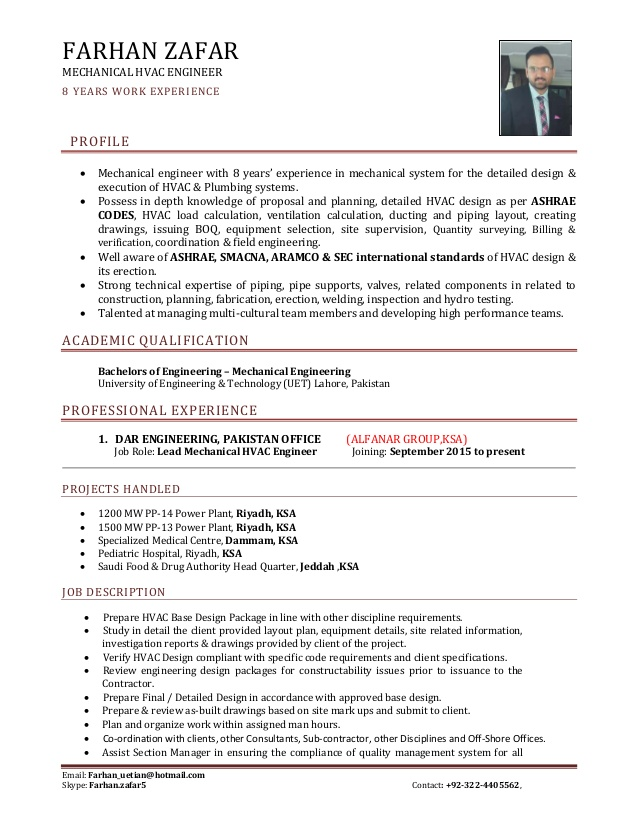sr mechanical hvac engineer cv job description resume sap testing sports template magic Resume Hvac Job Description Resume