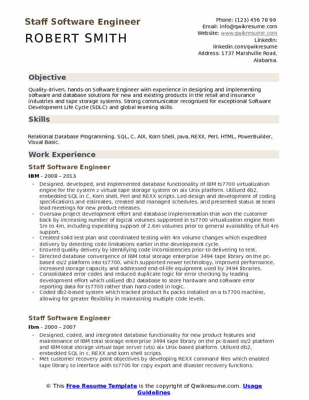 staff software engineer resume samples qwikresume pdf college graduate examples two sided Resume Software Engineer Resume