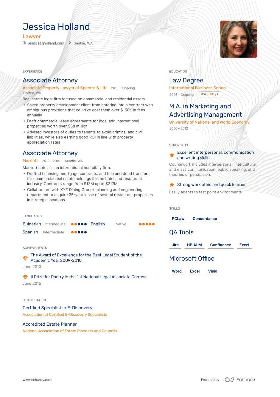 step by guide to writing lawyer resume associate attorney generated professional service Resume Associate Attorney Resume