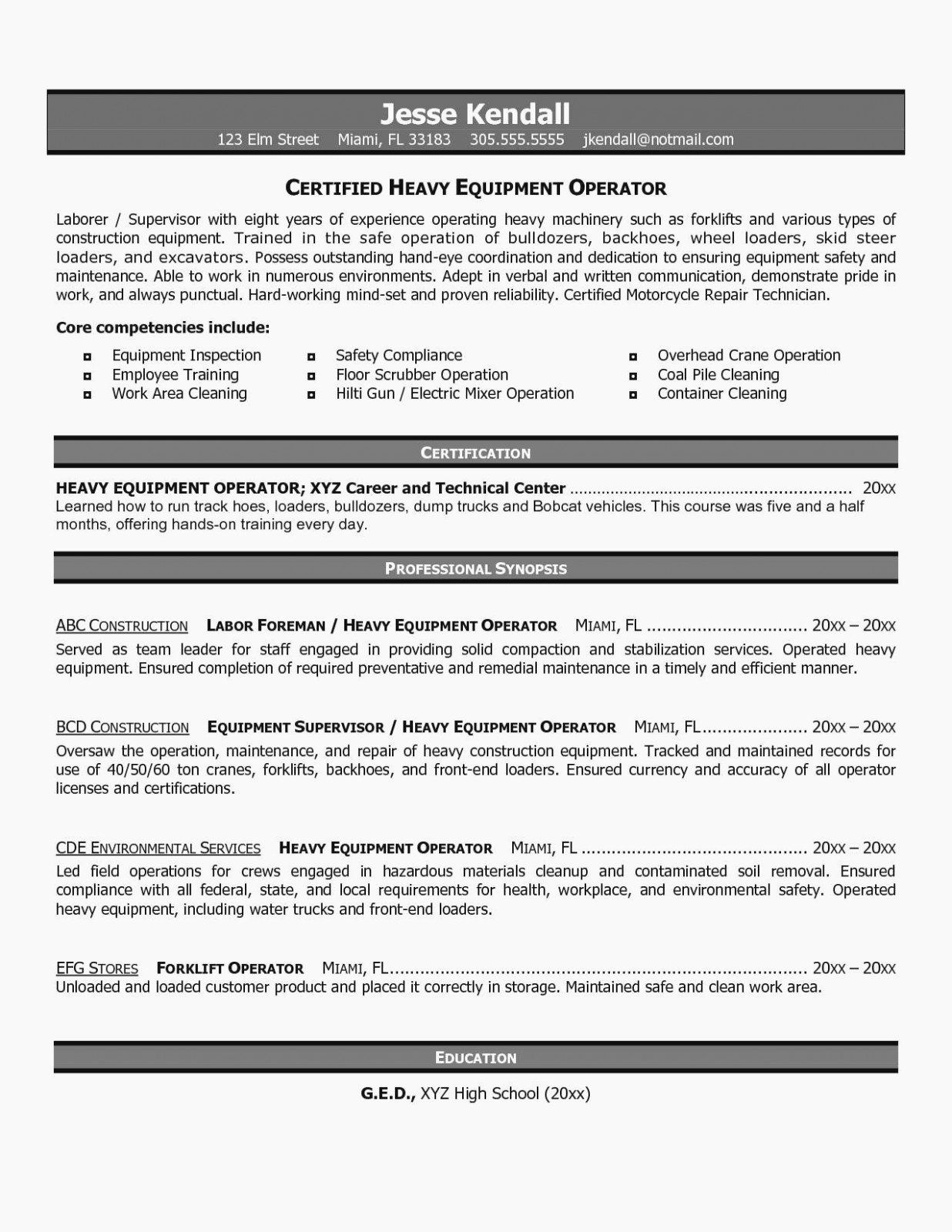 stock job description resume elegant signs you re in heavy equipment operator examples Resume Heavy Equipment Operator Supervisor Resume