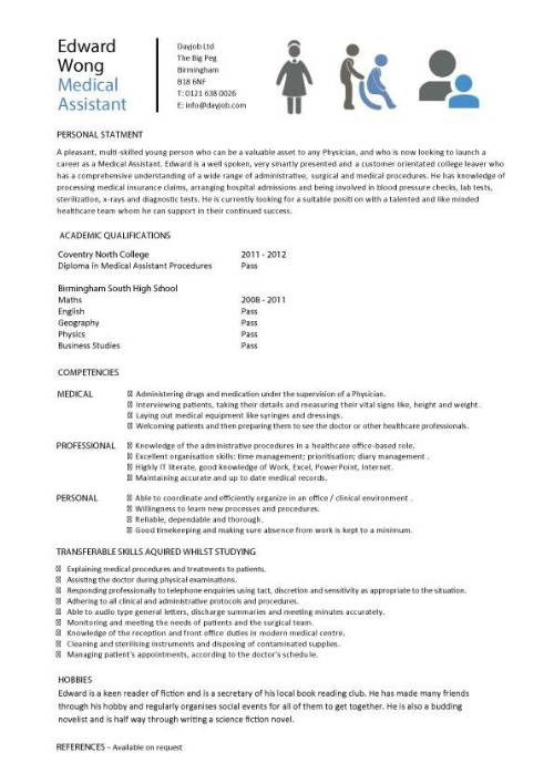 student entry level medical assistant resume template school example pic grading rubric Resume Medical School Resume Example