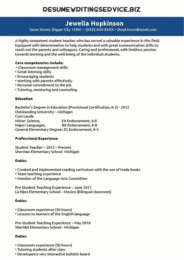 student teacher resume examples best of pin by writing service on elementary teaching Resume Student Teacher Experience On Resume