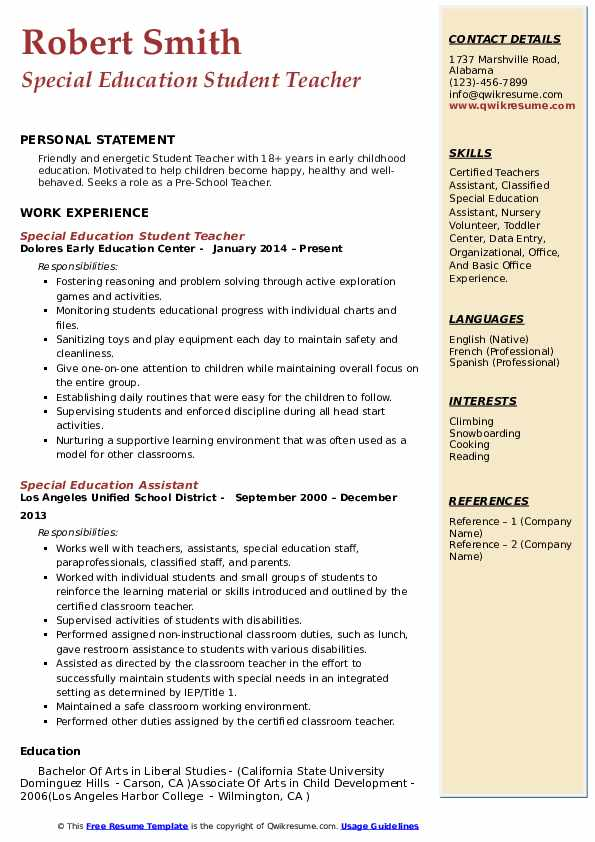 student teacher resume samples qwikresume experience on pdf manager job duties for noc Resume Student Teacher Experience On Resume