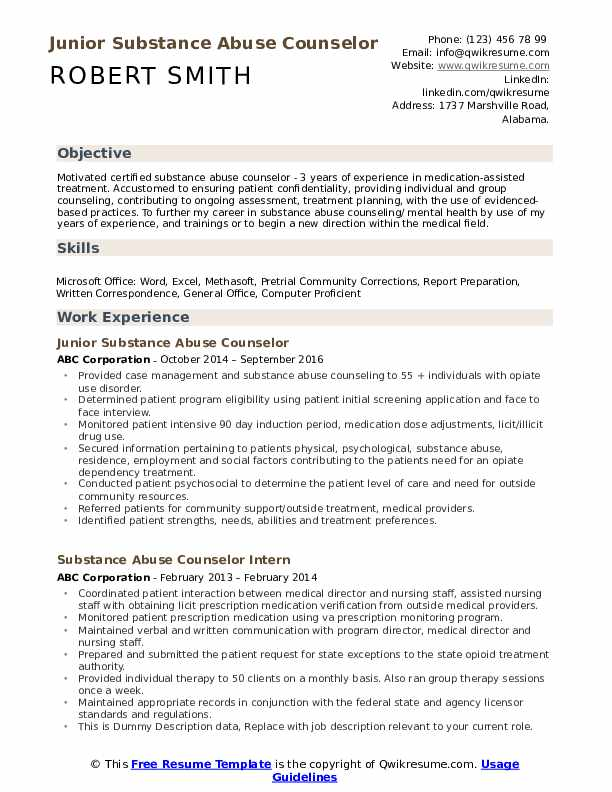 substance abuse counselor resume samples qwikresume pdf mechanical engineering examples Resume Substance Abuse Counselor Resume