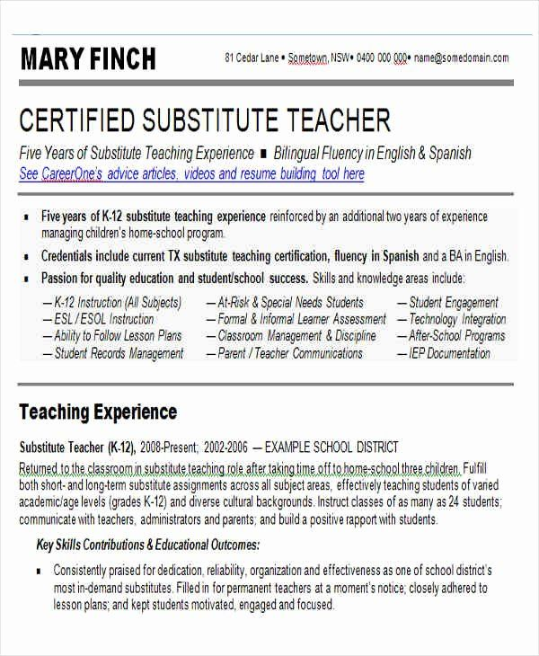 substitute teacher resume job description beautiful templates in word template examples Resume Substitute Teacher Resume Objective