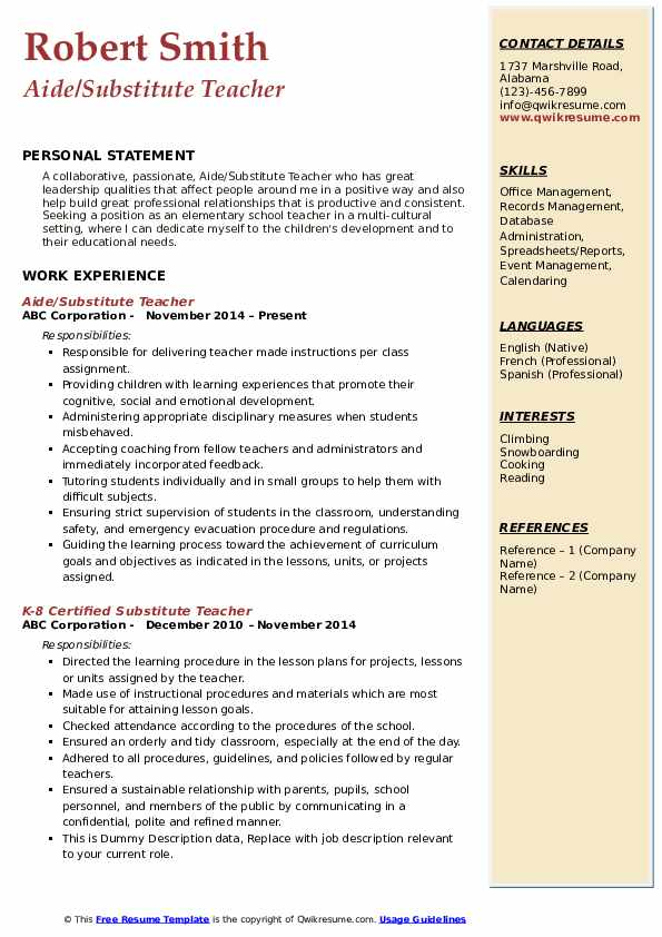 substitute teacher resume samples qwikresume objective pdf data migration business Resume Substitute Teacher Resume Objective