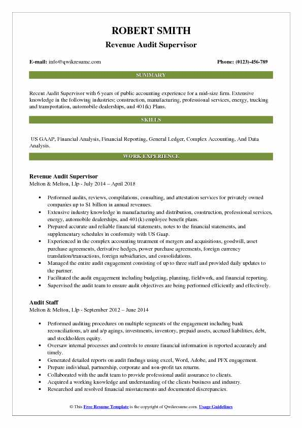 supervisor resume samples examples and tips textile audit pdf dietetic internship new Resume Textile Supervisor Resume