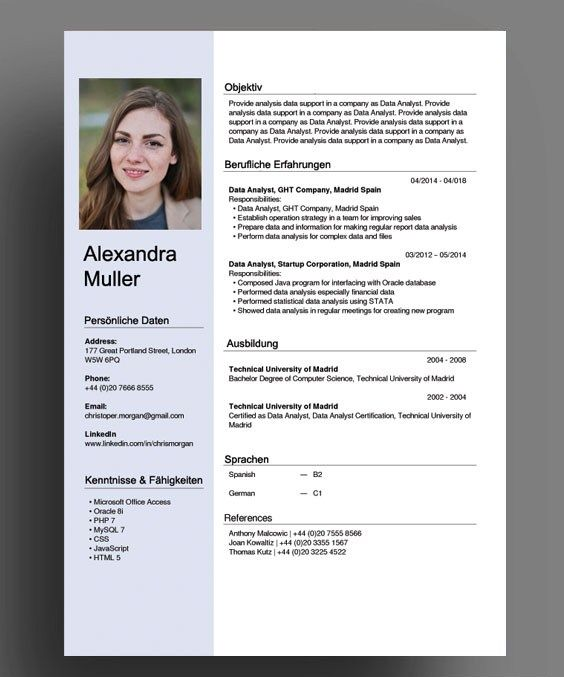 swiss german cv resume template word microsoft templates wizard primary teaching examples Resume Microsoft Templates Resume Wizard