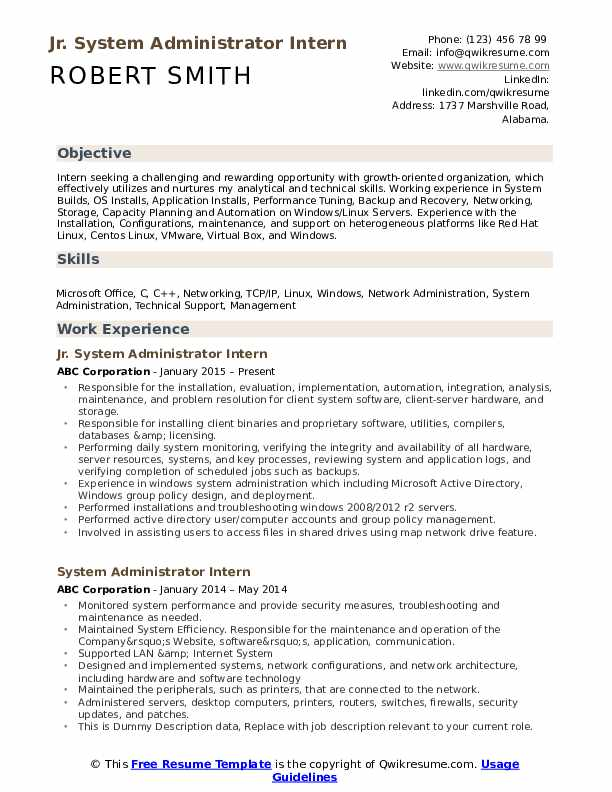 system administrator resume samples qwikresume pdf seo writer engineering templates word Resume System Administrator Resume
