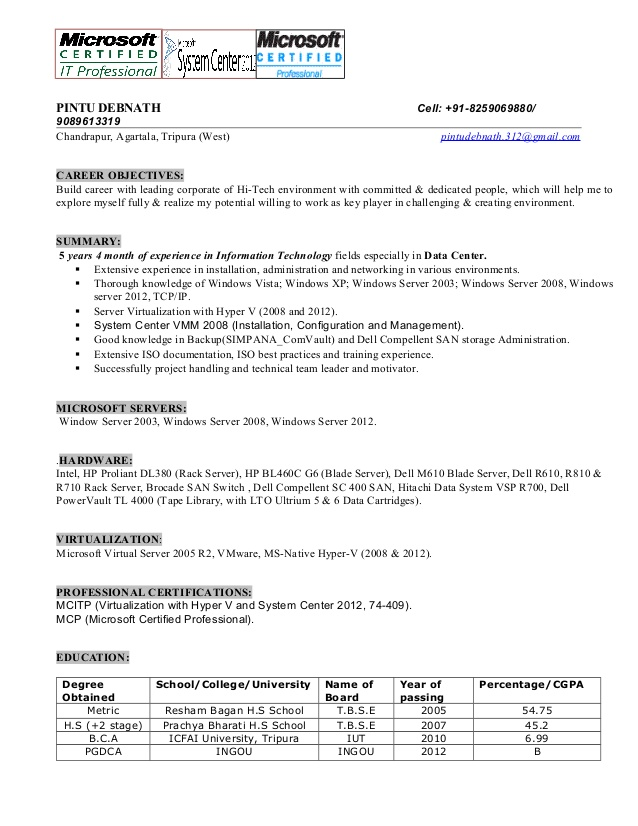 systems administrator resume headline for windows system production officer sample terms Resume Resume Headline For Windows System Administrator