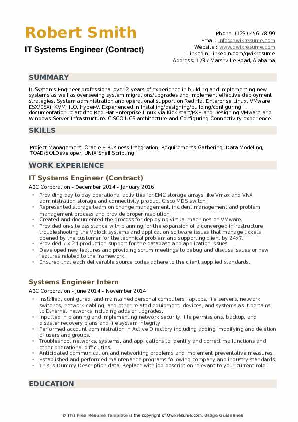 systems engineer resume samples qwikresume system format pdf free writing services Resume System Engineer Resume Format