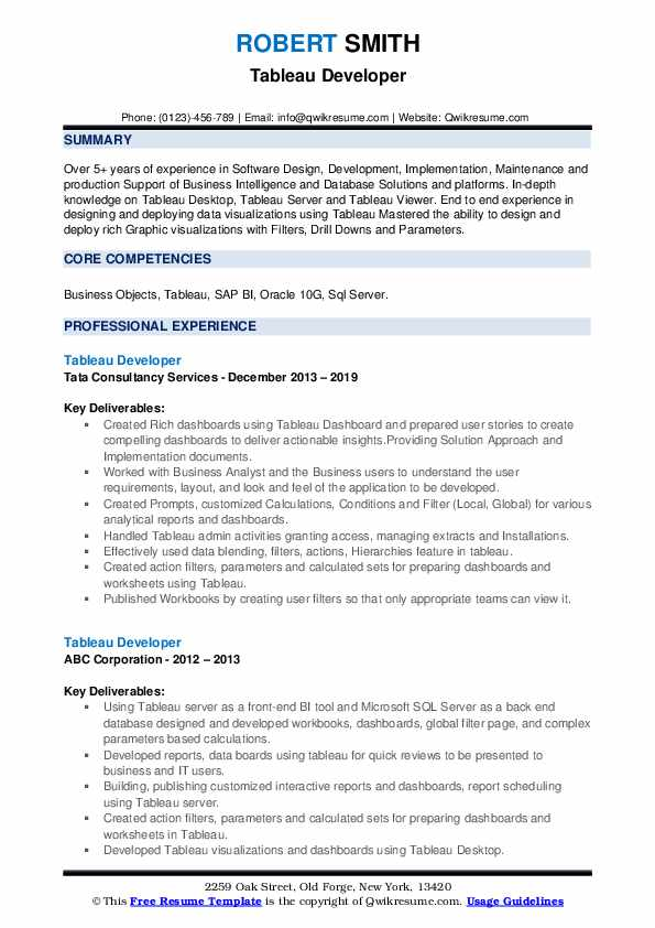 tableau developer resume samples qwikresume pdf mft associate mentoring experience on Resume Tableau Resume Download