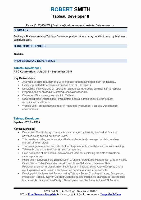 tableau developer resume samples qwikresume pdf mft associate senior executive examples Resume Tableau Resume Download