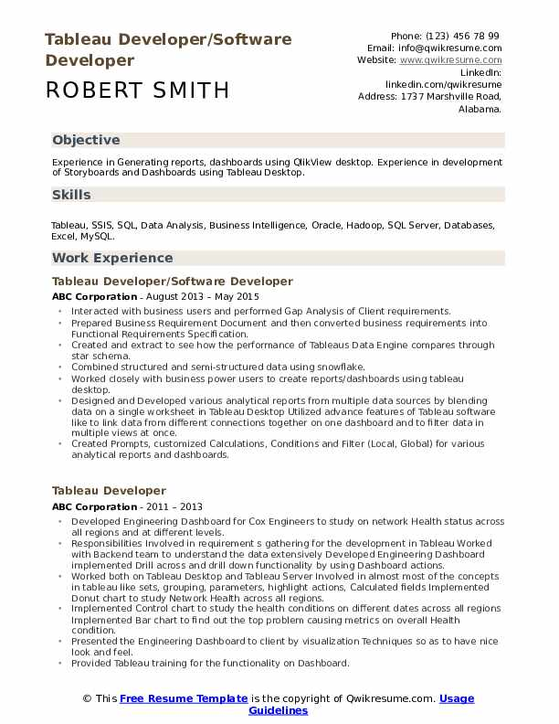 tableau developer resume samples qwikresume pdf senior executive examples personal Resume Tableau Resume Download