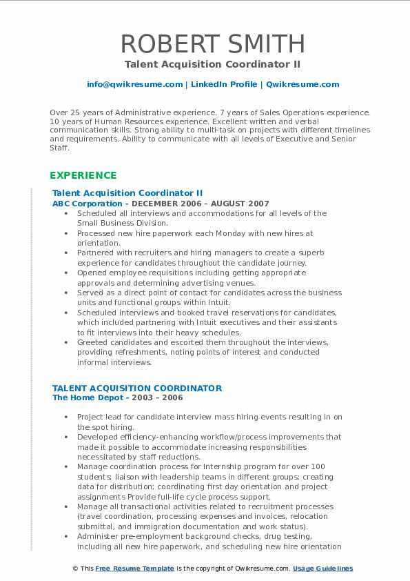 talent acquisition coordinator resume samples qwikresume pdf best high school examples Resume Talent Acquisition Coordinator Resume