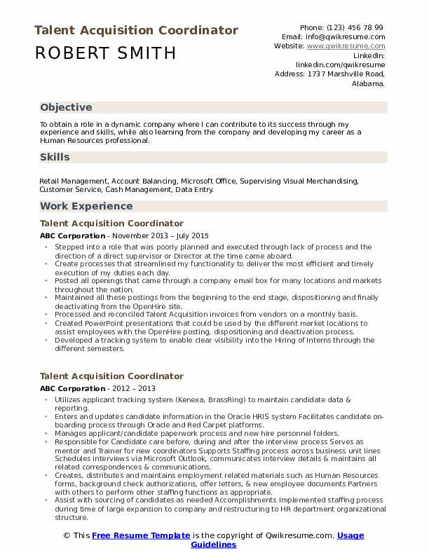 talent acquisition coordinator resume samples qwikresume pdf budtender example payroll Resume Talent Acquisition Coordinator Resume