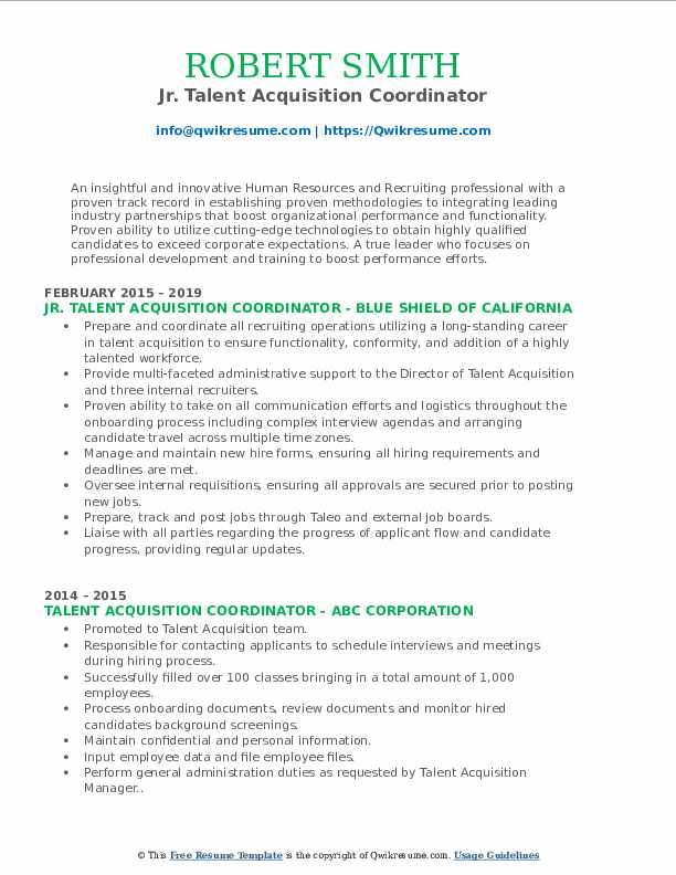 talent acquisition coordinator resume samples qwikresume pdf costco front end assistant Resume Talent Acquisition Coordinator Resume