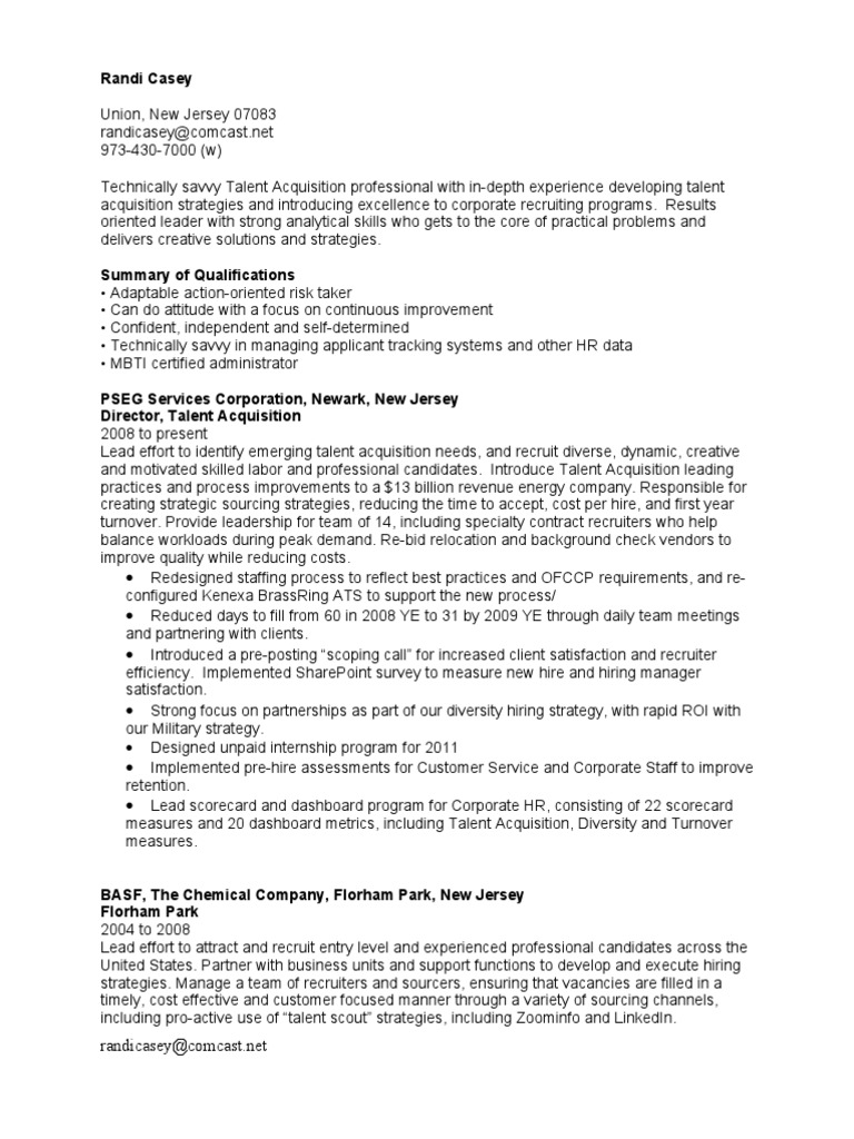 talent acquisition director resume randi recruitment human resources of retail planner Resume Director Of Talent Acquisition Resume