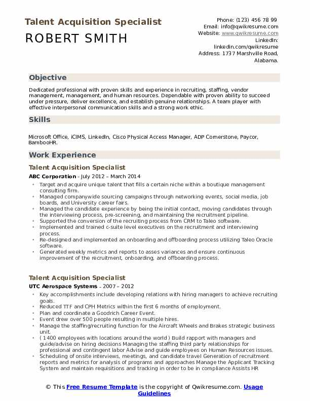 talent acquisition specialist resume samples qwikresume management sample pdf drive Resume Talent Management Resume Sample