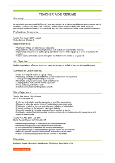 teacher aide resume example skills for assistant sample image patient care play student Resume Skills For A Teacher Assistant Resume