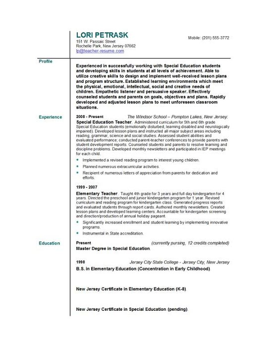 teacher resume objective statement elementary school teachers images for examples free Resume Elementary School Resume Objective