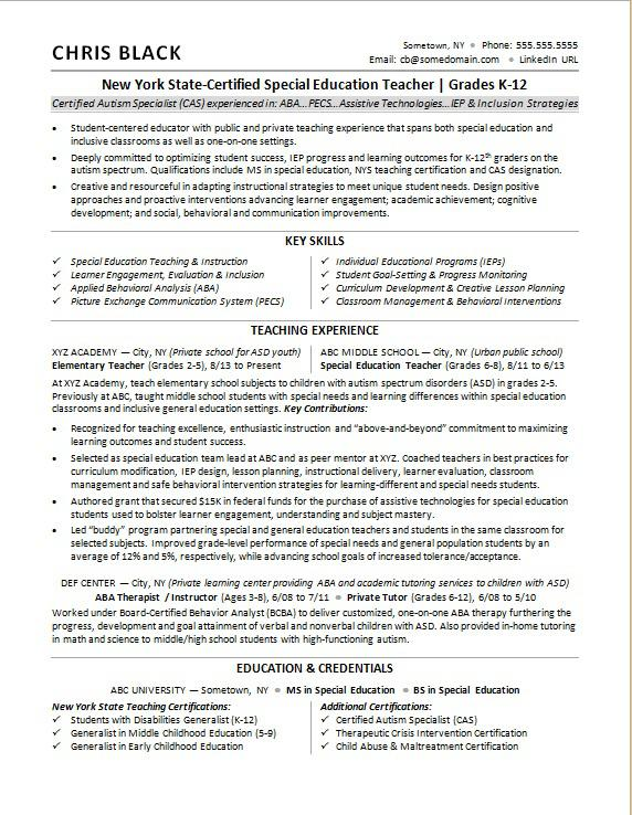 teacher resume sample monster applied behavior analysis present or past tense on Resume Applied Behavior Analysis Resume