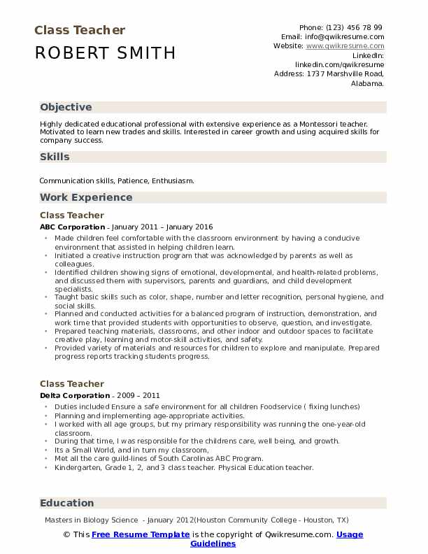 teacher resume samples qwikresume montessori objective pdf spm sample aid best font and Resume Montessori Teacher Resume Objective