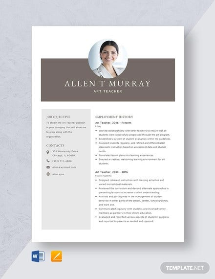 teacher resume templates pdf publisher free premium artist template art gym scp assistant Resume Artist Resume Template Free Download