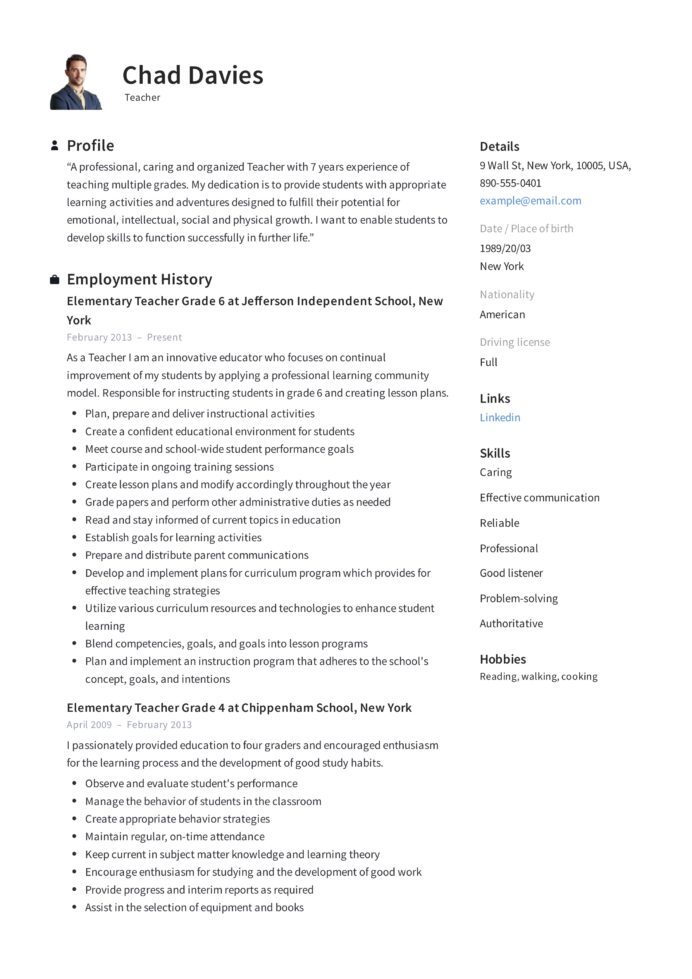 teacher resume writing guide examples pdf elementary school objective sample skills and Resume Elementary School Resume Objective