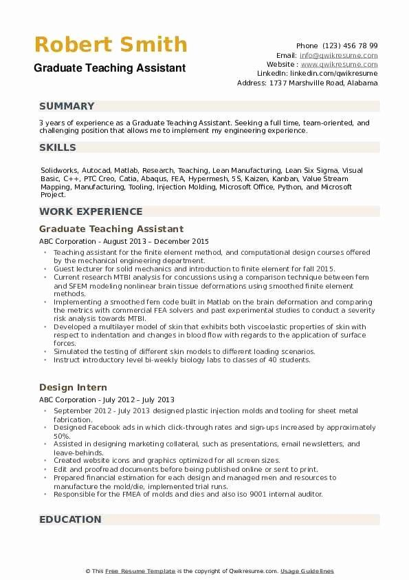 teaching assistant resume example best of graduate samples teacher jobs medical summary Resume Resume Summary Examples For Teacher Assistant