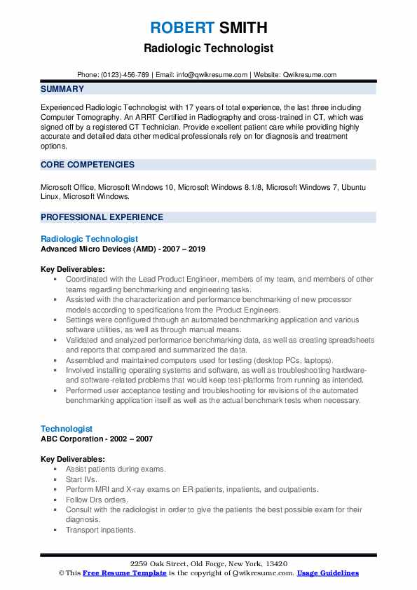 technologist resume samples qwikresume sample for medical pdf of professional summary on Resume Sample Resume For Medical Technologist