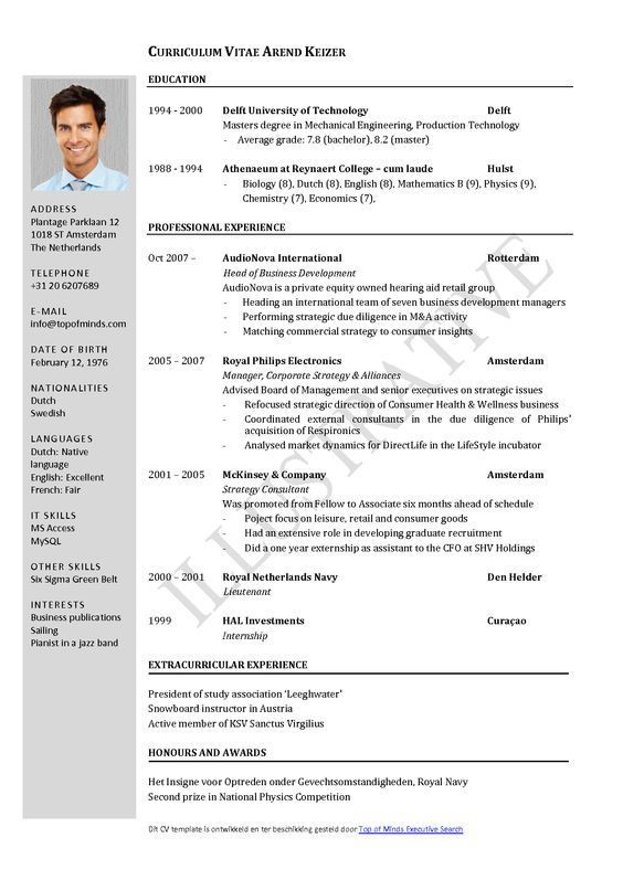 tefl cv examples and advice job resume format free template curriculum vitae word Resume Resume Format Template Word